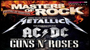Masters of Rock. Tributos a Metallica / Guns and Roses / AC/DC